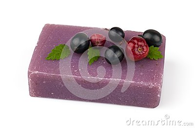 Soap with berries