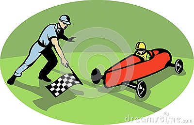 Soap box derby racing race flag