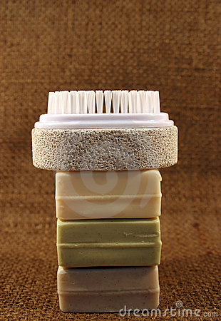 Soap and brush