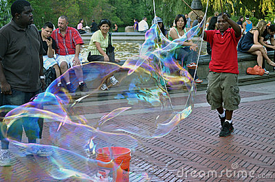 Soap bubble fun in New York Editorial Photography
