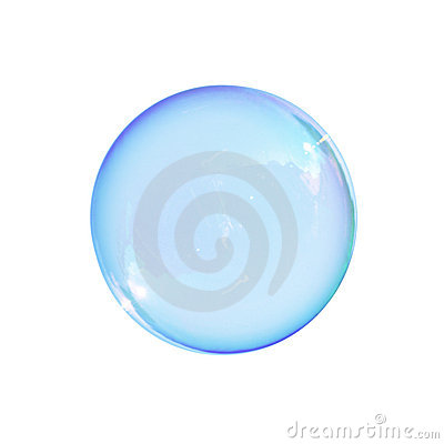 Free Soap Bubble Isolated Royalty Free Stock Photos - 10734208