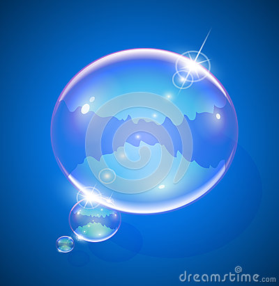 Soap bubble for message