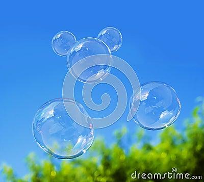 Free Soap Bubble On Blue Sky Royalty Free Stock Photo - 44487285