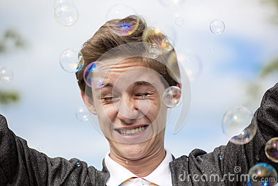 In soap bubbles