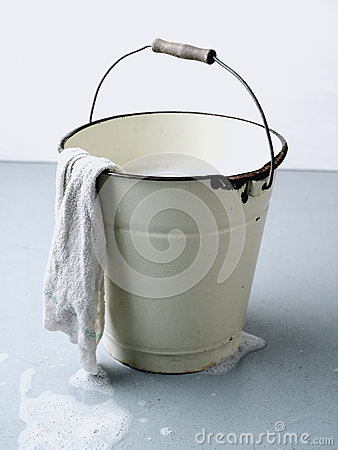 Soap Bucket with cloth