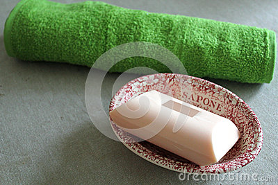 Soap Dish And Face Cloth