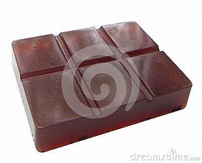 Soap in the form of a chocolate bar