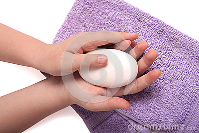 Soap in hands