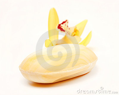 Soap with orchid