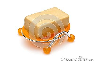 Soap in soap-dish
