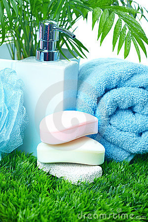 Soap and towel.