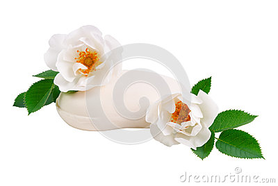 Soap with a two rose flower