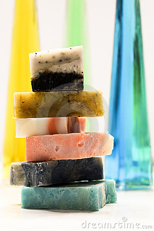 Free Soaps Stacked Royalty Free Stock Photo - 16916555