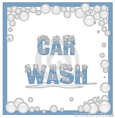 Soapy car wash sign