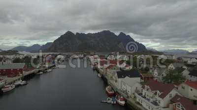 Sobre las islas de Lofoten Henningsvær metrajes
