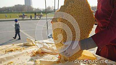 Sobremesa pequena de Separate Tatar Cuisine do comerciante da rua do papel filme