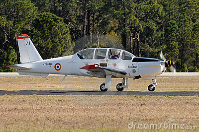 Socata TB-30 Epsilon French military trainer Editorial Stock Photo