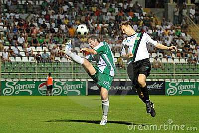 Soccer action Editorial Stock Image