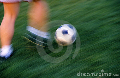 Soccer Action In Time Lapse Motion Blur