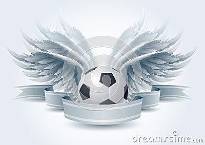 Soccer angel banner