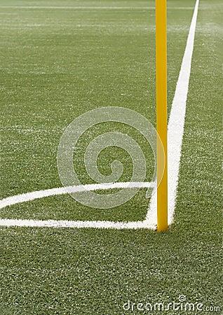 Soccer angle with corner pole