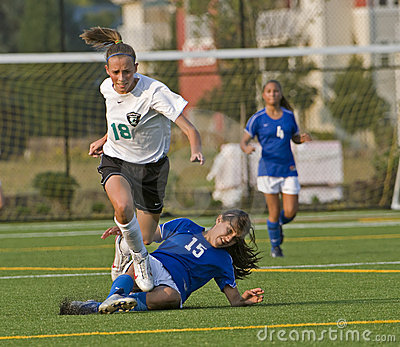 Soccer avoiding Editorial Stock Photo
