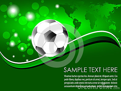 Soccer ball with abstract background