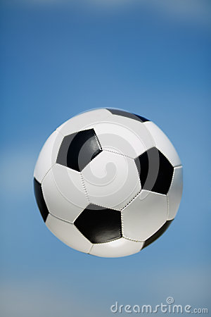 Soccer ball in the air