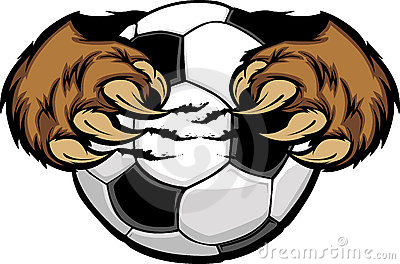 Soccer Ball With Bear Claws Image