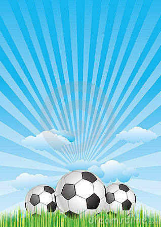 soccer ball with blue sky