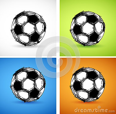 Soccer ball color set