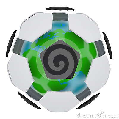 Soccer ball consisting of unconnected parts