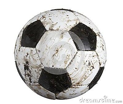 Soccer ball dirty