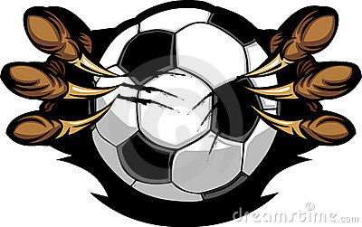 Soccer Ball With Eagle Talons Image