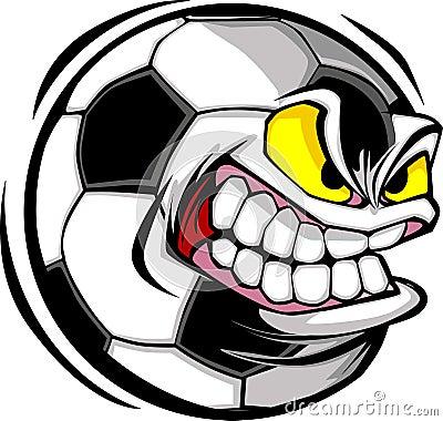 Free Soccer Ball Face Vector Image Royalty Free Stock Photos - 10361798