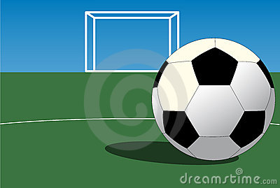 Soccer ball on field