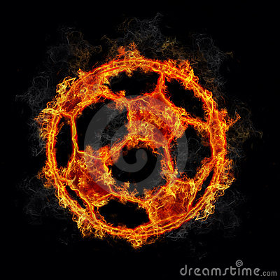 Soccer Ball On Fire Stock Images - Image: 1621744