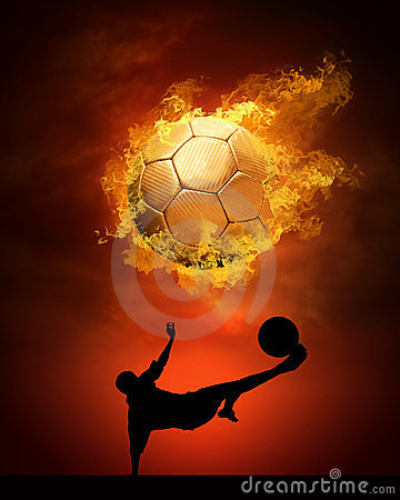 Soccer Ball And Fire Stock Photography Image 13200922