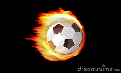 Soccer Ball On Fire Royalty Free Stock Images - Image: 14284009