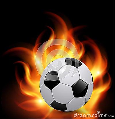 Soccer ball on fire