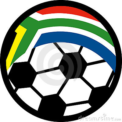 Soccer ball flag south africa