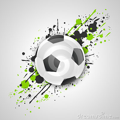 Free Soccer Ball (football Ball) With Grunge Effect. Vector. Royalty Free Stock Image - 74589126