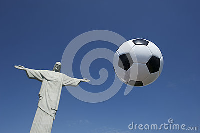 Soccer Ball Football Floats at Corcovado Rio