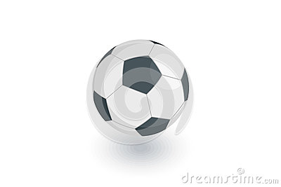 Soccer ball, football isometric flat icon. 3d vector Vector Illustration
