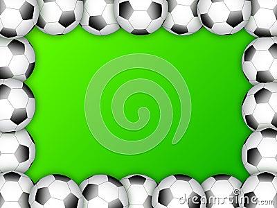 Soccer ball frame template design