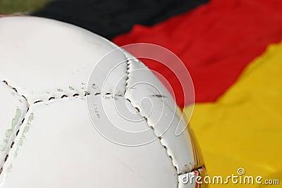Soccer ball and german flag