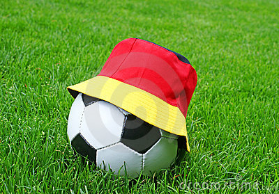 Soccer Ball, German Flag Hat