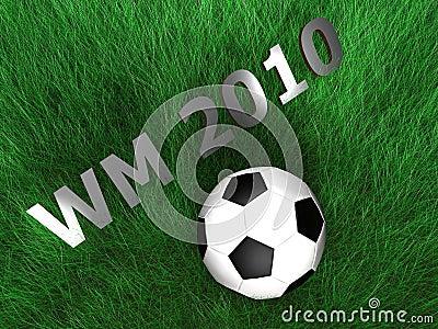 Soccer - Ball - Grass - 3D