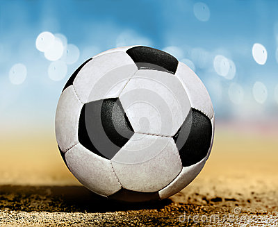 Soccer ball on ground l