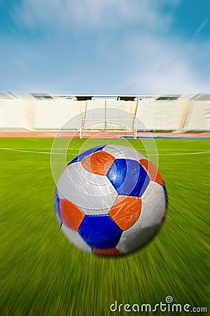 Soccer Ball Heading The Goal